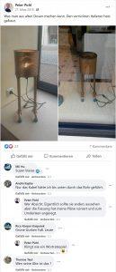 Facebookpost von Peter Pichl mit Kommentar von NSU-Unterstützer Kapke