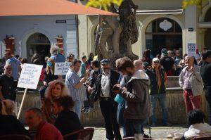 Stephan Brandner, Eike Voigtsberger und Christian Bärthel bei einer Anti-Corona-Demo am 16.05.20 in Gera