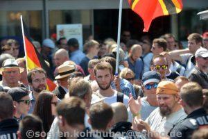Wolfgang Lauerwald bei einer Demonstration der Identitären Bewegung in Halle am 20.07.19