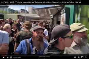 Eike Voigtsberger bei einer Demonstration der identitären Bewegung am 20.07.19 in Halle